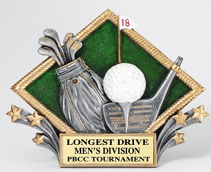 GOLF DIAMOND PLAQUE